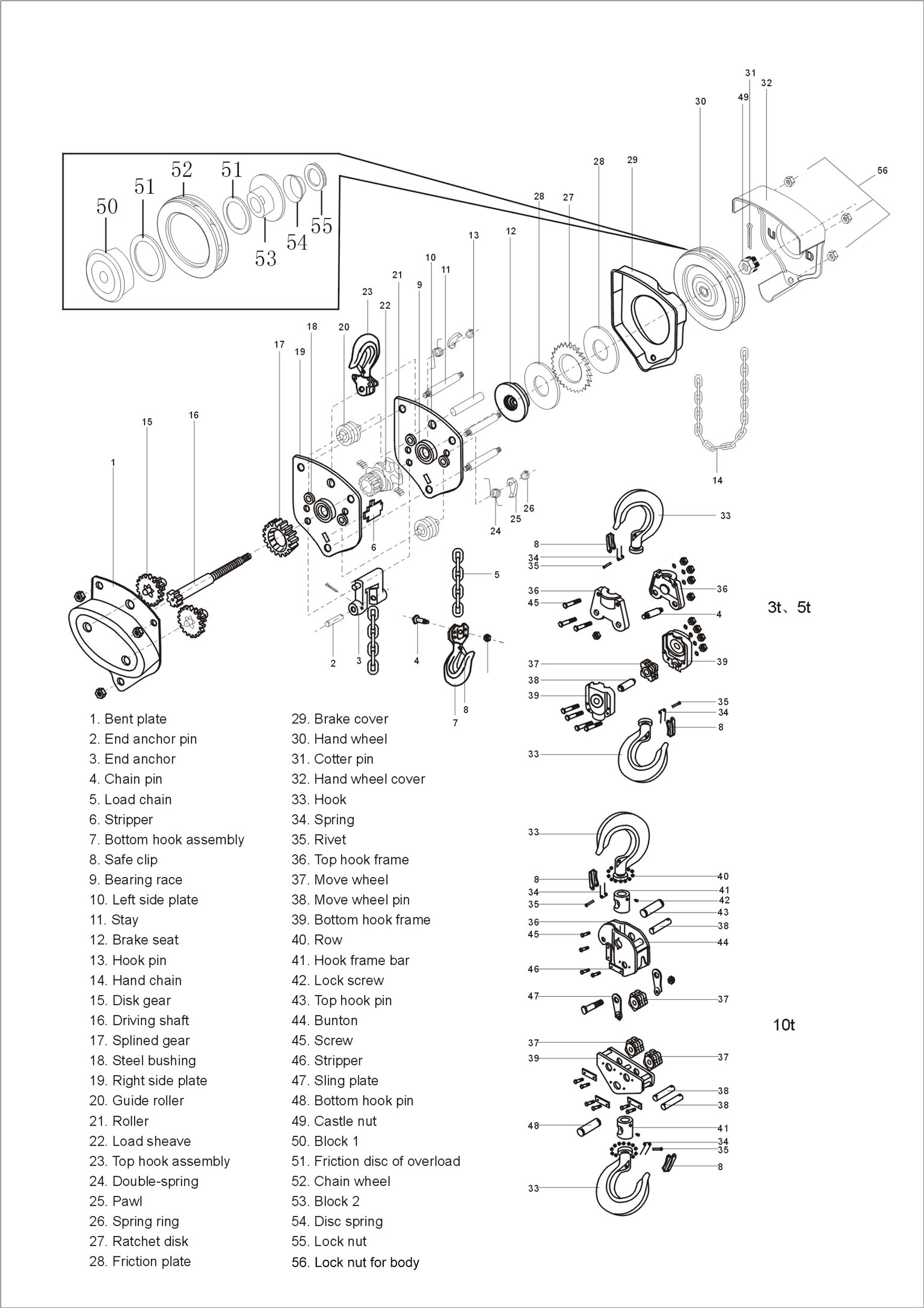 Premium Tool Abrasives Chain Hoists 1 Ton Cm Hoist Wiring Diagram Pta Manual