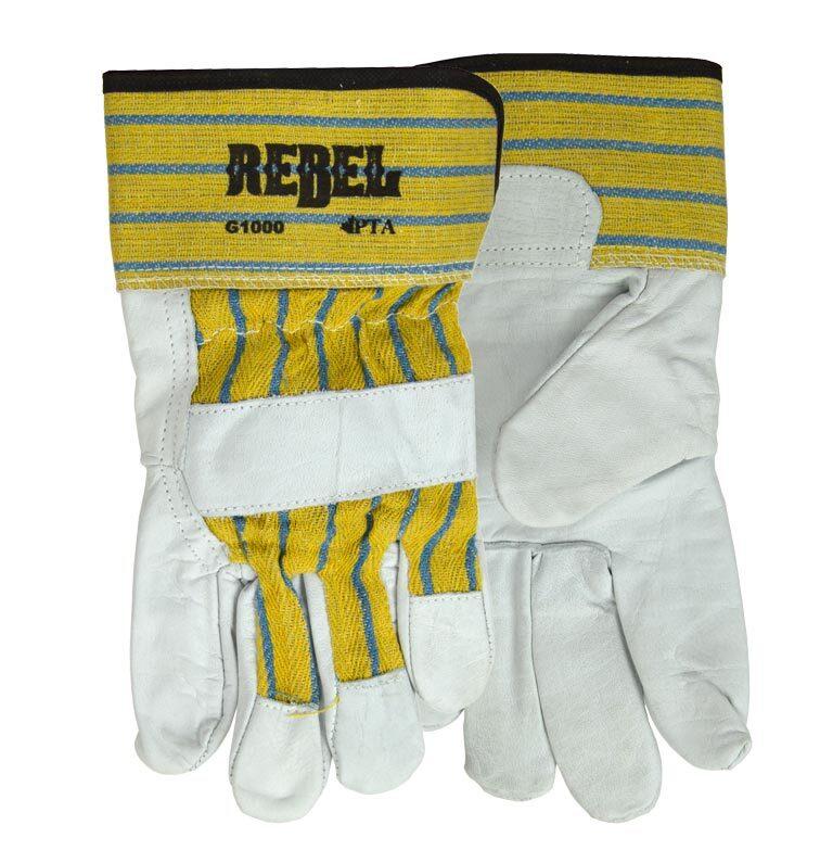 Leather safety work glove